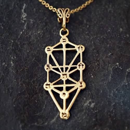 Tree of Life Sefirot Gold