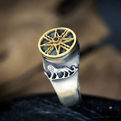 Sun in Leo Talisman Ring Silver and Gold (*Limited Edition*)