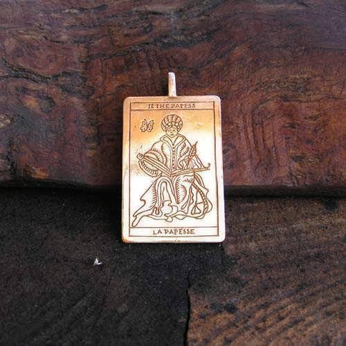 Tarot High Priestess Pendant Gold