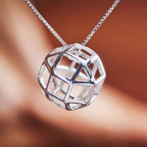 The Divine Reflection Silver Pendant