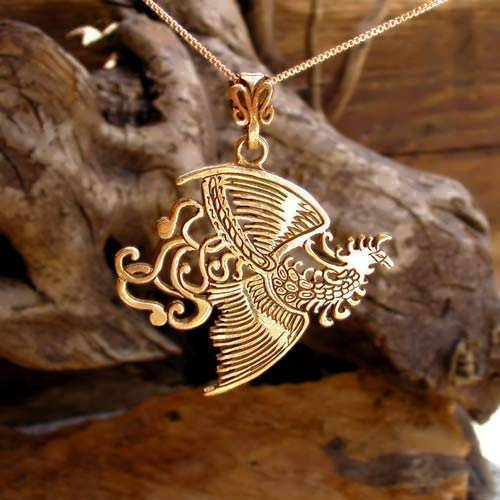 The Fire Element Pendant Gold