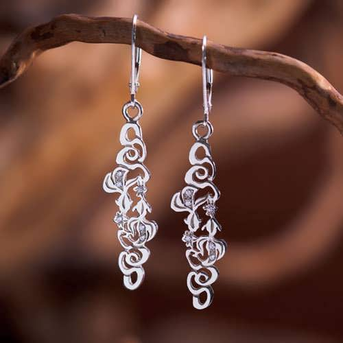 The Water Element Earrings Silver