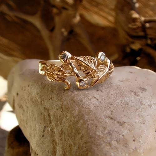 The Great Mother Ring Gold with Cubic Zirconia
