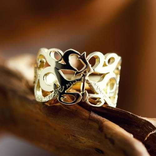 טבעת גם זה יעבור זהב