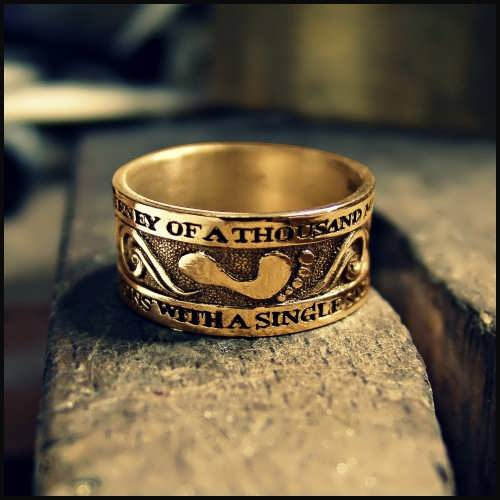 Thousand Miles Journey Ring Gold
