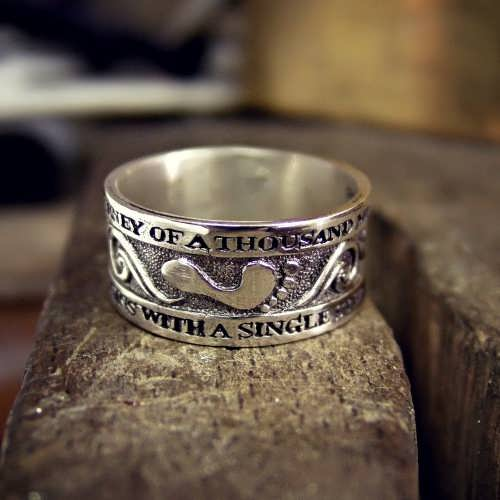 Thousand Miles Journey Ring Silver
