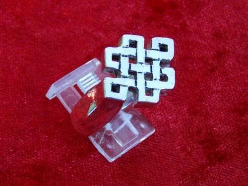 Tibetan Knot Ring Silver