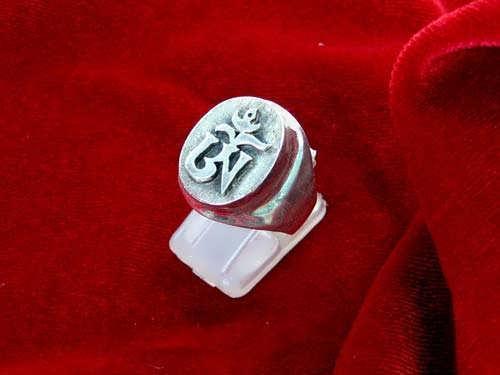 Tibetan Om Ring Silver
