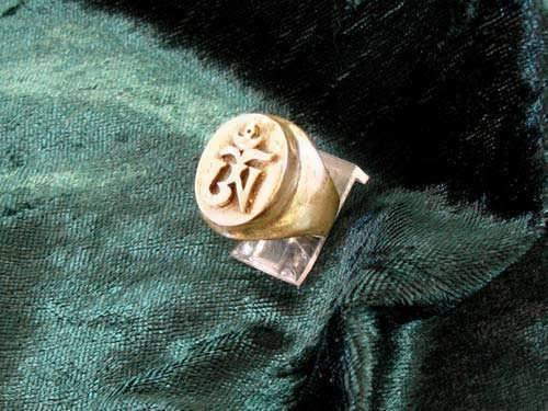 Tibetan Om Ring Gold