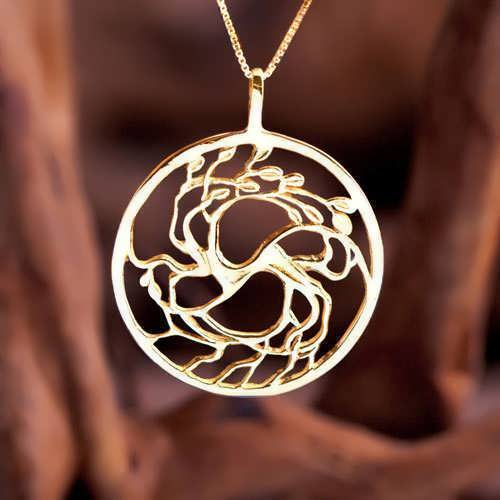 Tree of Love Gold Pendant
