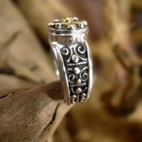 Mayan Venus Jupiter Ring Gold And Silver (*Limited Edition*)