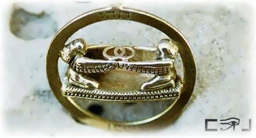Кулон «Vesica Piscis», золото