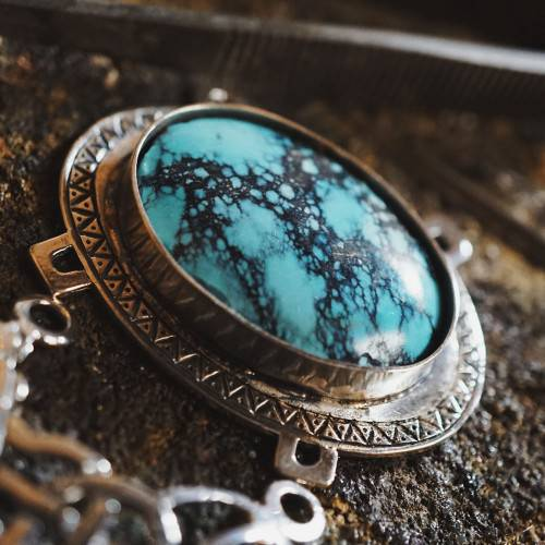 Set with genuine and beautiful Persian Turquoise