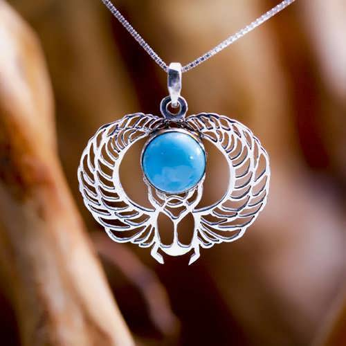 Winged Scarab Silver