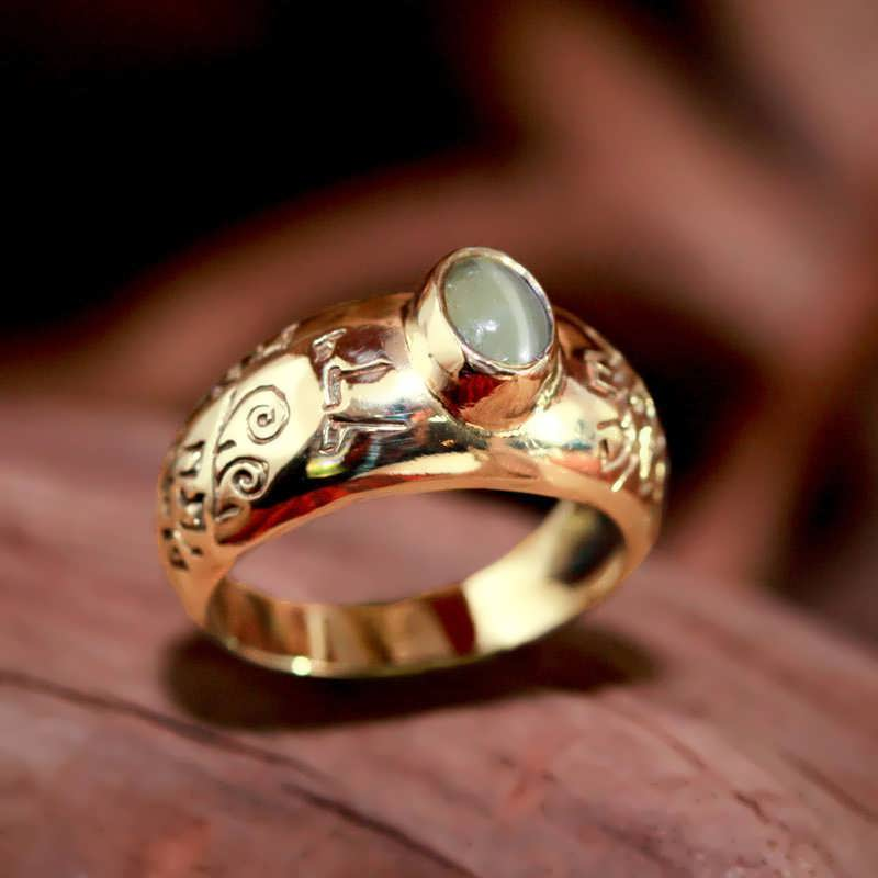 Gold Cat's Eye Abundance Ring