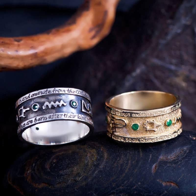 Emerald Tablet Ring