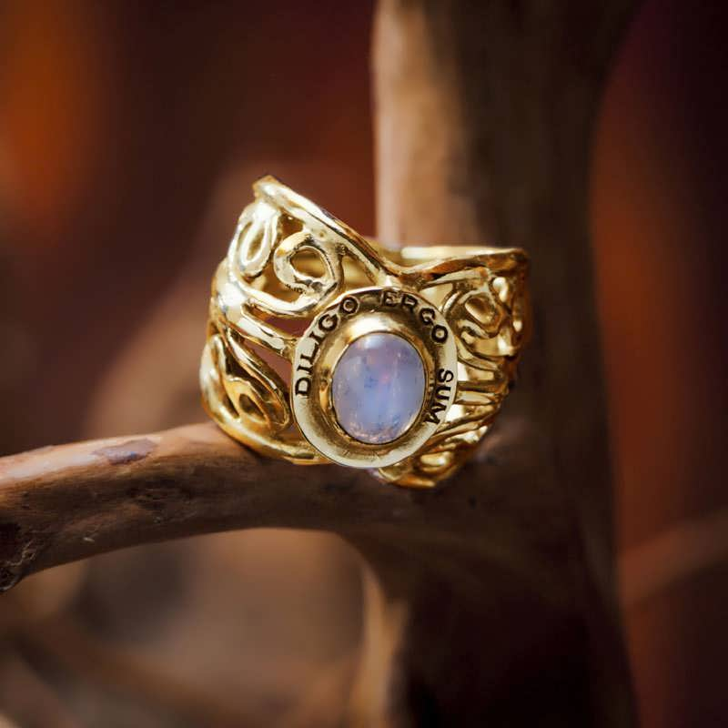 Gold I Love Therefore I Am Ring