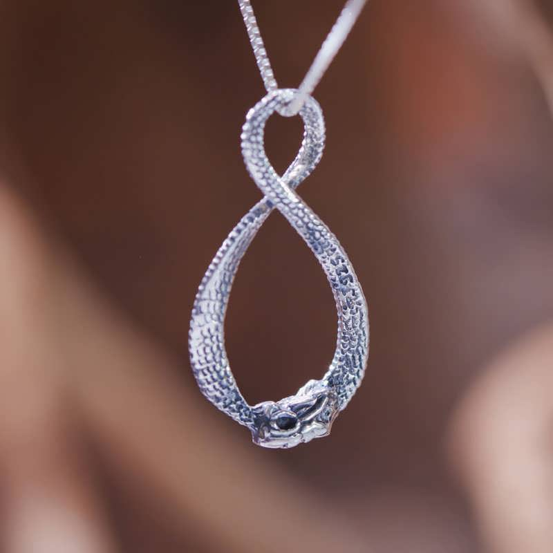 Infinity Dragon Jewelry Pendant