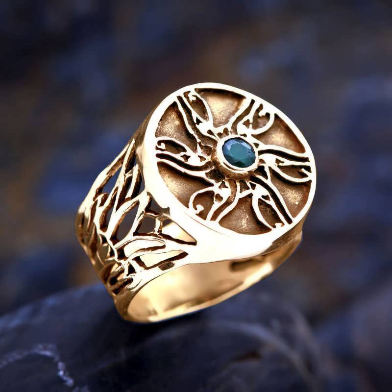 gold eye of horus ring