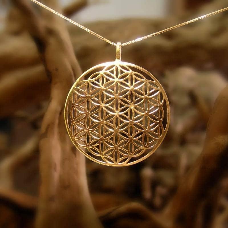 Flower Of Life Pendant Gold