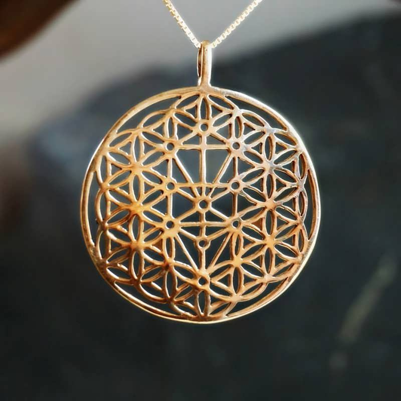 Flower And Tree Of Life Gold