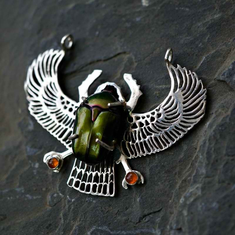 Silver Genuine Egyptian Scarab