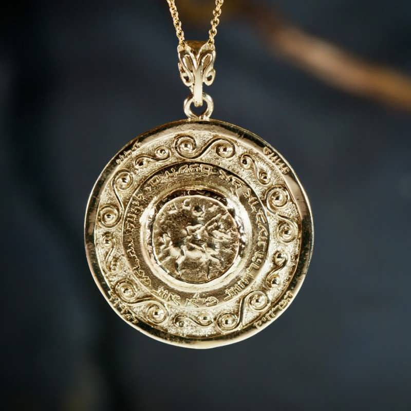 Journey Of Life Pendant Gold Round