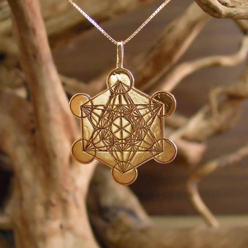 Metatron cube gold for Metatron s cube jewelry