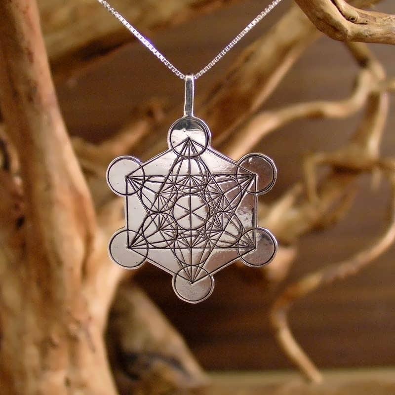 Metatron cube silver for Metatron s cube jewelry