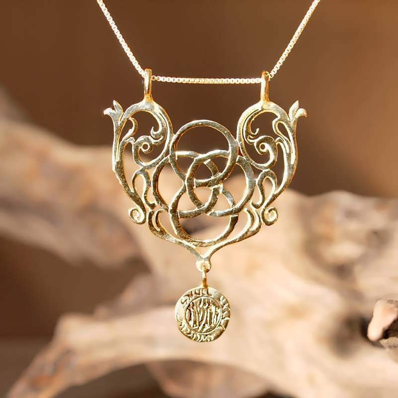 Mother Earth Pendant Gold