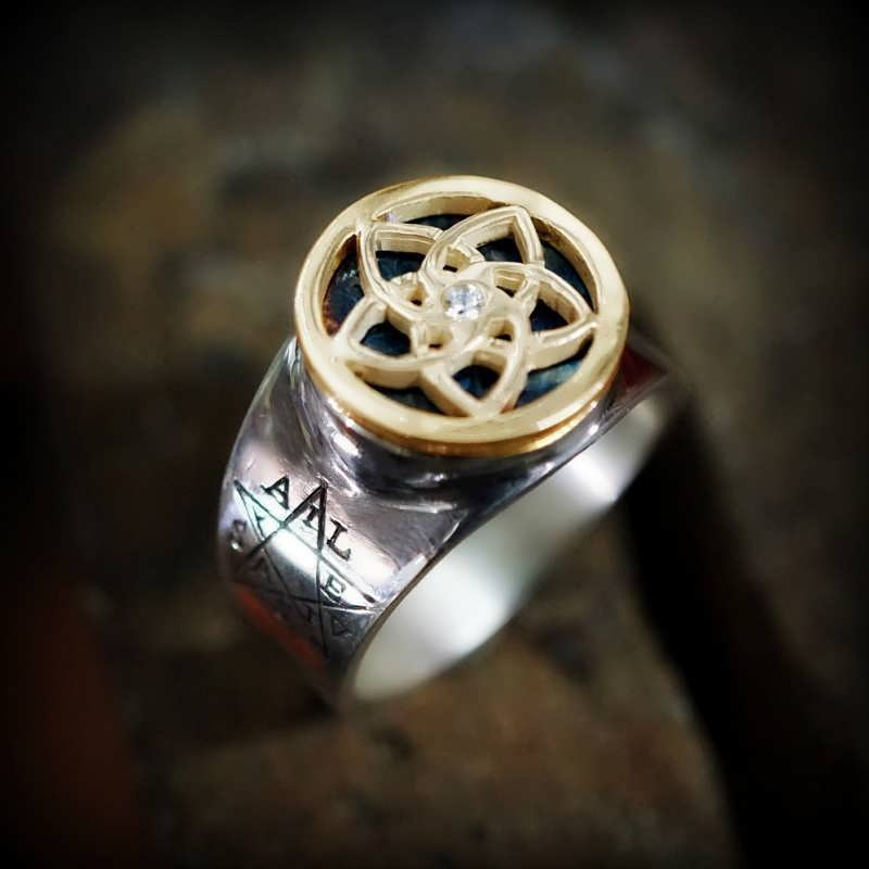 Pentalpha Venus Ring Silver And Gold Limited Edition