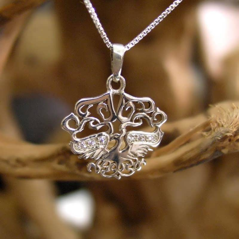 Element Silvers: The Fire Element Pendant Silver Small