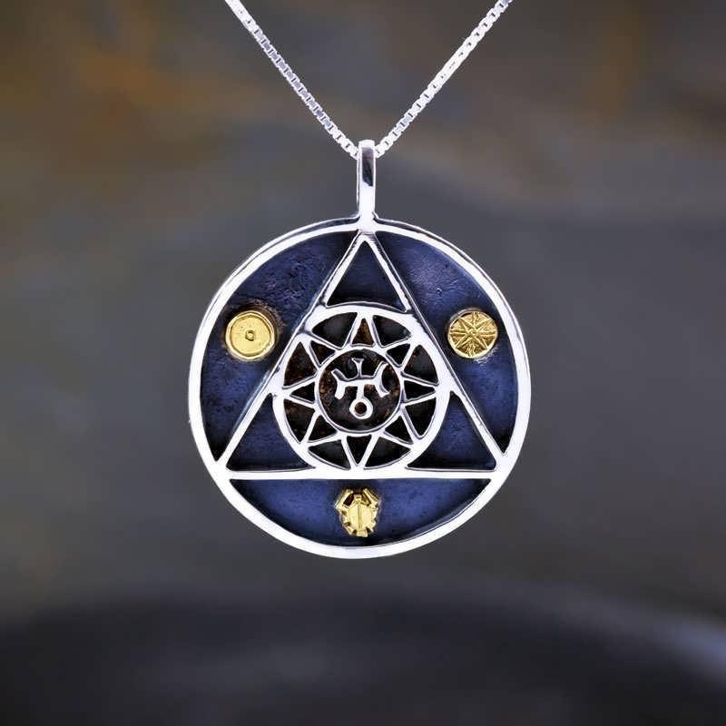 Uranus In Aries Talisman Silver And Gold