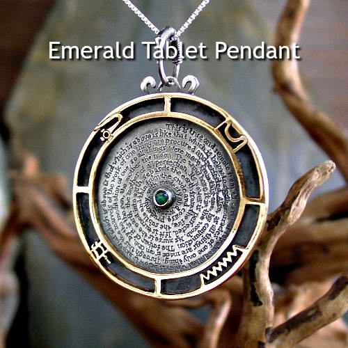 Emerald Tablet Pendant
