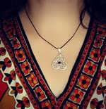 Nataly Wearing Ka Gold Jewelry Design