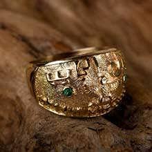 Кольцо «Дюна», золото