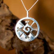 Hunab Ku Pendant Silver