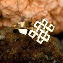 Tibetan Knot Ring Gold