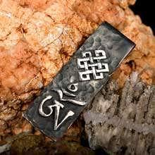 Кулон «Тибетский символ Ом», серебро, большой