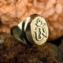 Кольцо «Тибетский символ Ом», золото
