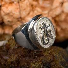 Anello Om Tibetano - argento