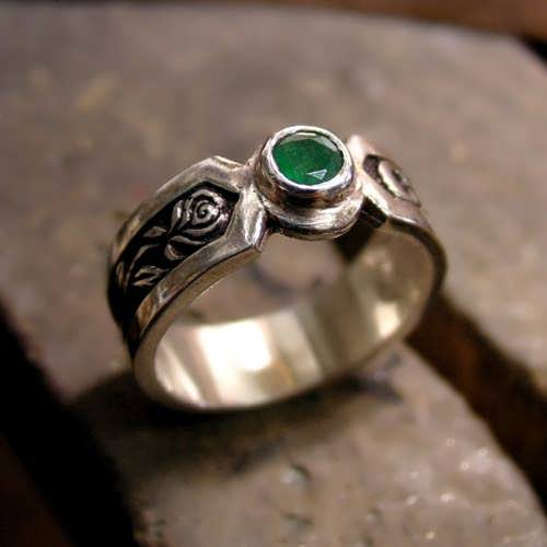 The Philosopher's Ring with Emerald
