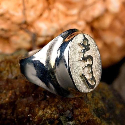 Anello nodo tibetano - argento