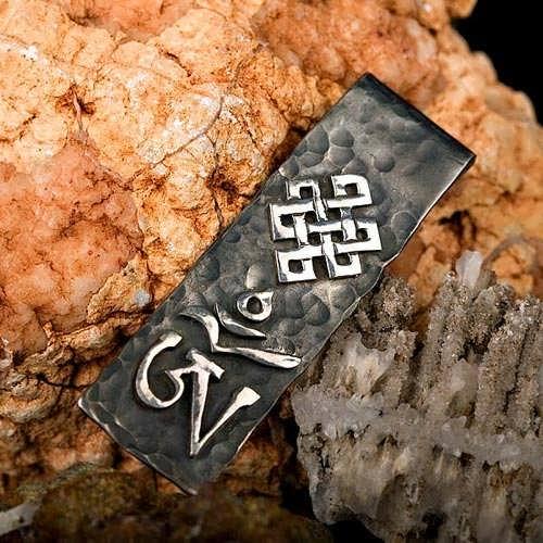 Tibetan OM Big Silver