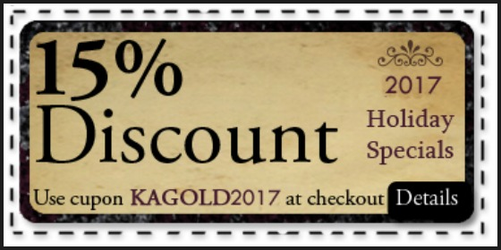 2017 Holidays Coupon - KAGOLD2017
