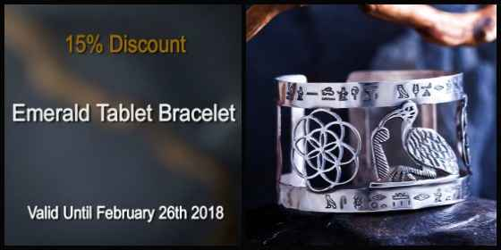 Emerald Tablet Bracelet