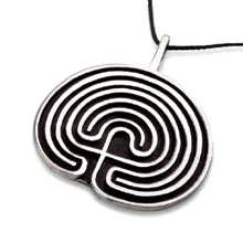 Labyrinth Silberanhänger