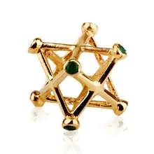 Merkaba incrusté moyen or