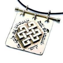 Tibetanischer Knoten Silber