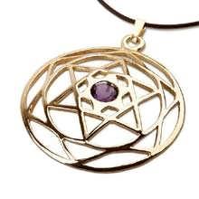 Estrella de David Mandala de oro